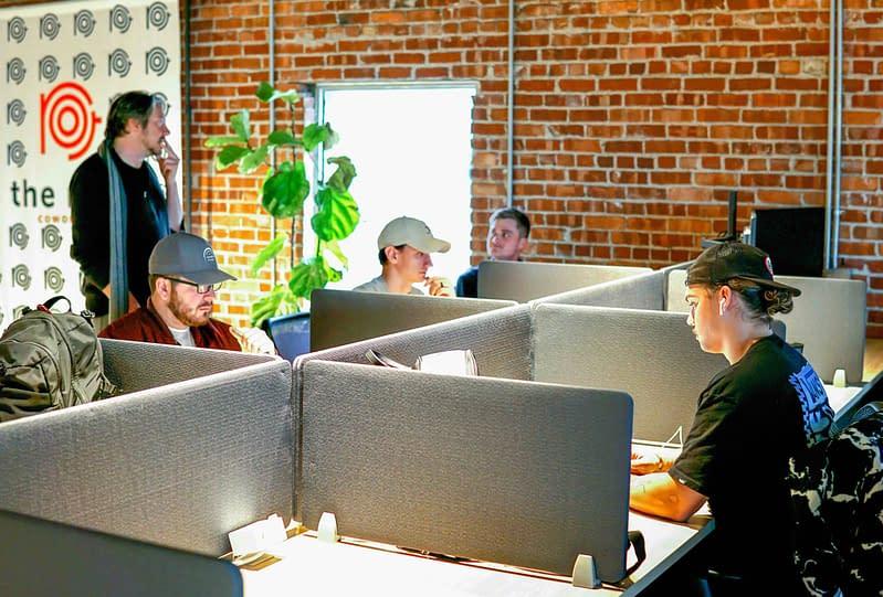 group coworking members